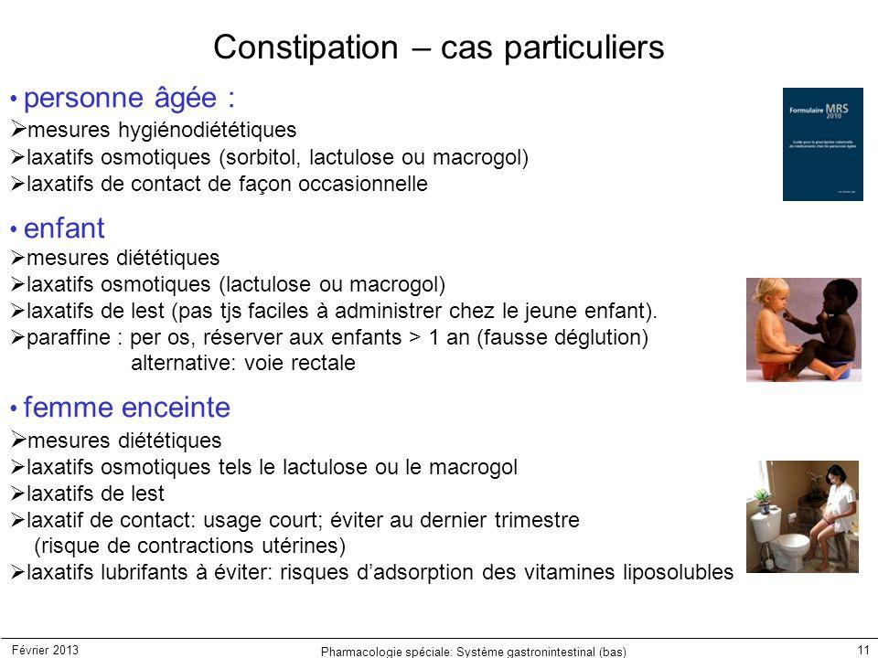 Constipation – cas particuliers
