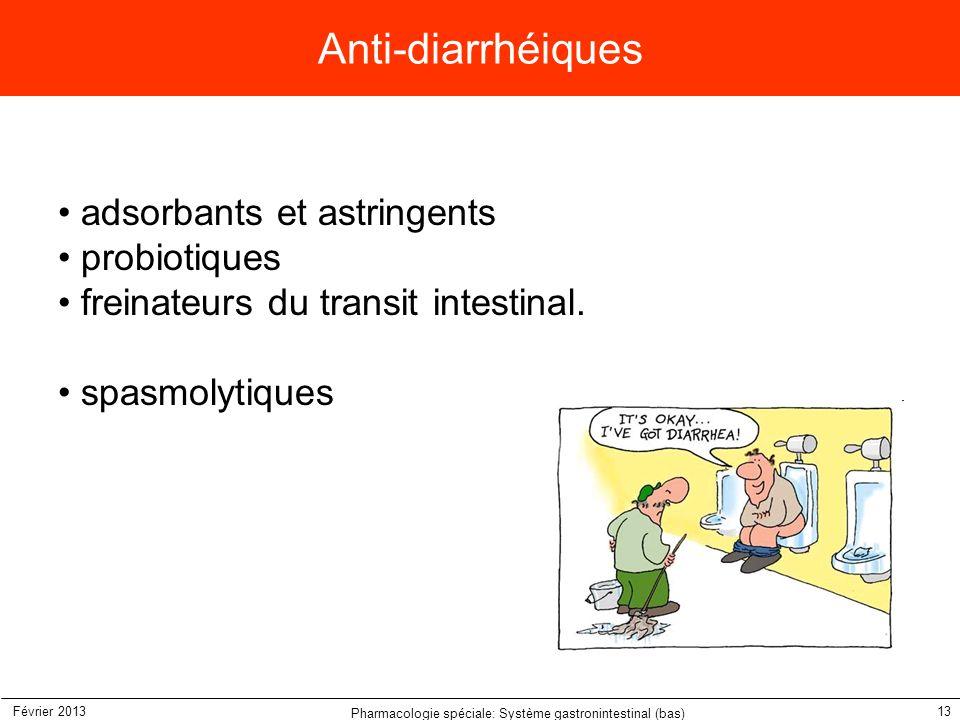 Pharmacologie spéciale: Système gastronintestinal (bas)