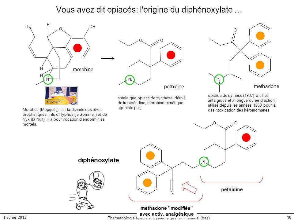 Vous avez dit opiacés: l origine du diphénoxylate …