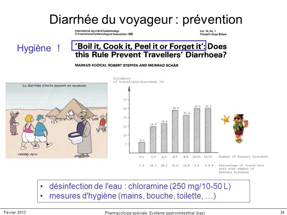 Diarrhée du voyageur : prévention