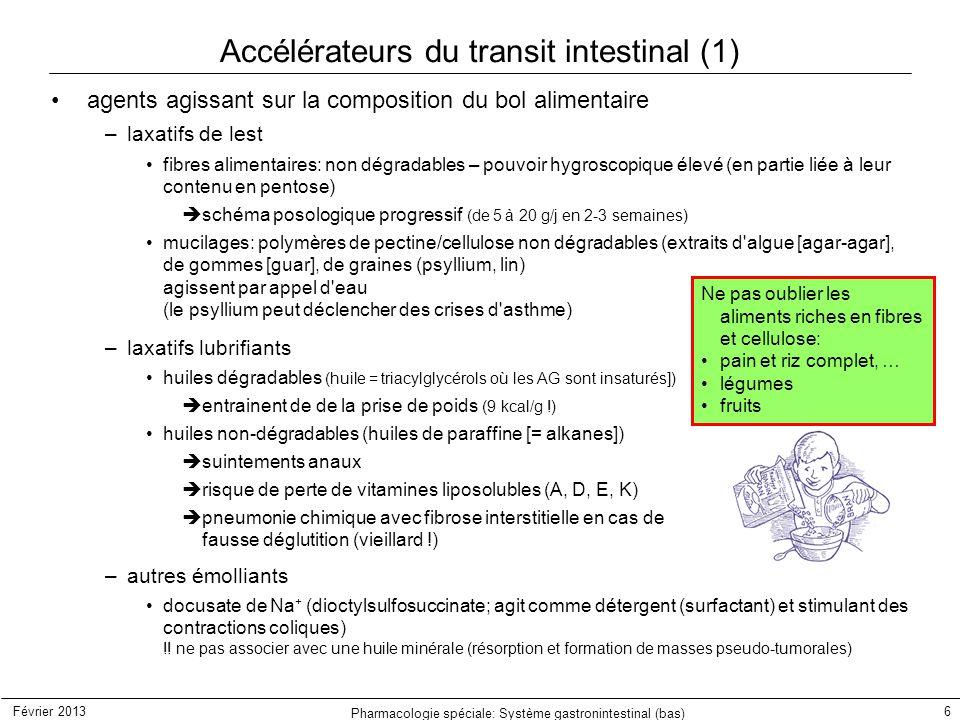 Accélérateurs du transit intestinal (1)