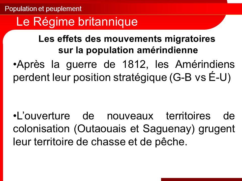 Les effets des mouvements migratoires sur la population amérindienne