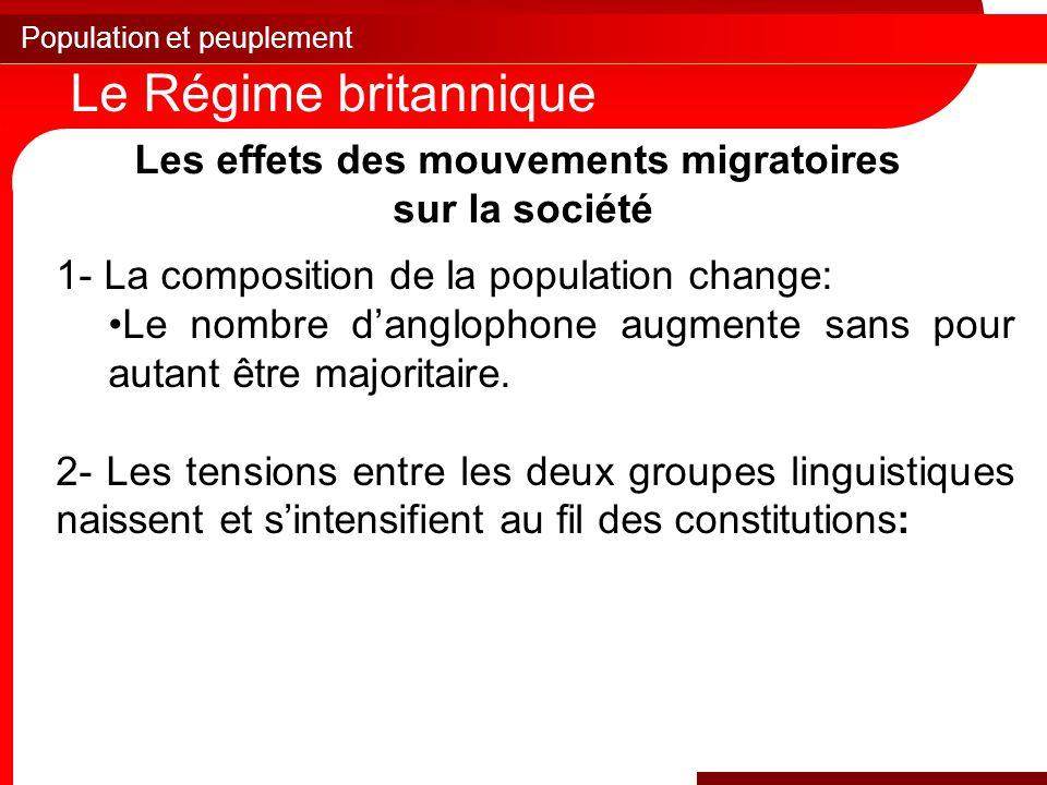 Les effets des mouvements migratoires