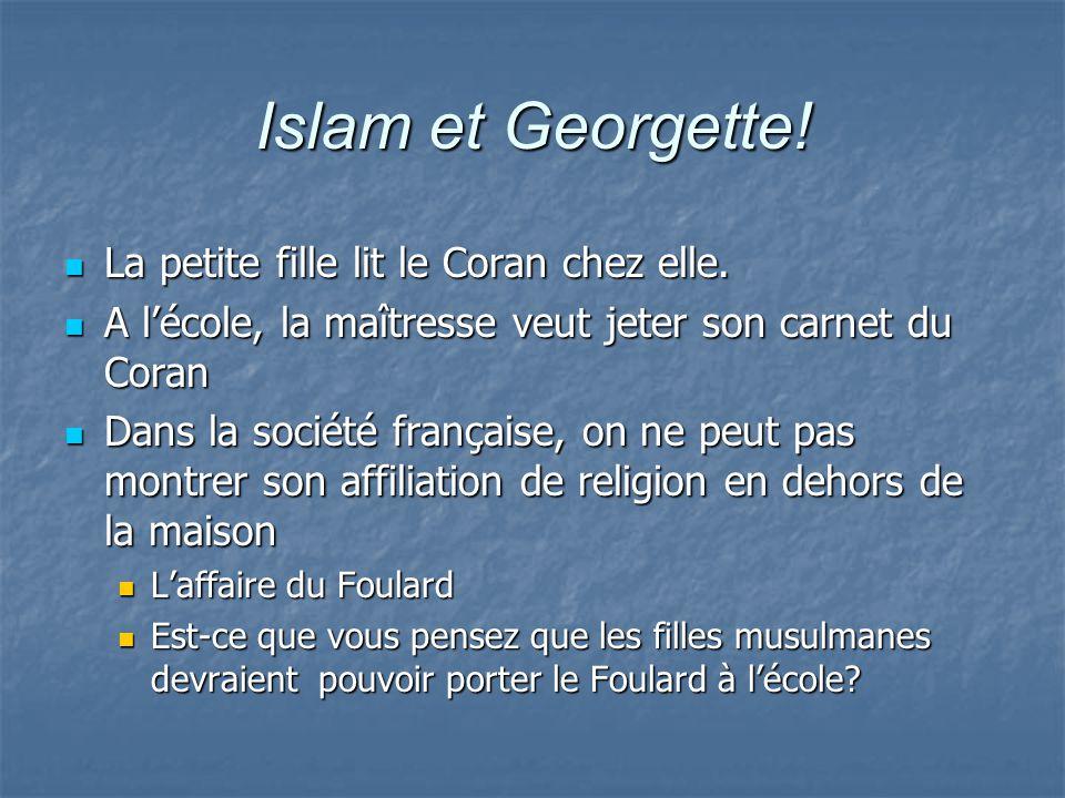 Islam et Georgette! La petite fille lit le Coran chez elle.
