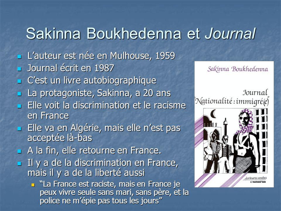 Sakinna Boukhedenna et Journal