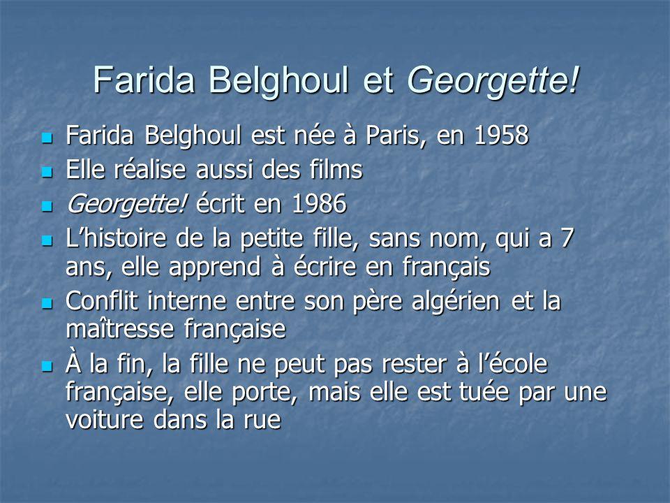 Farida Belghoul et Georgette!