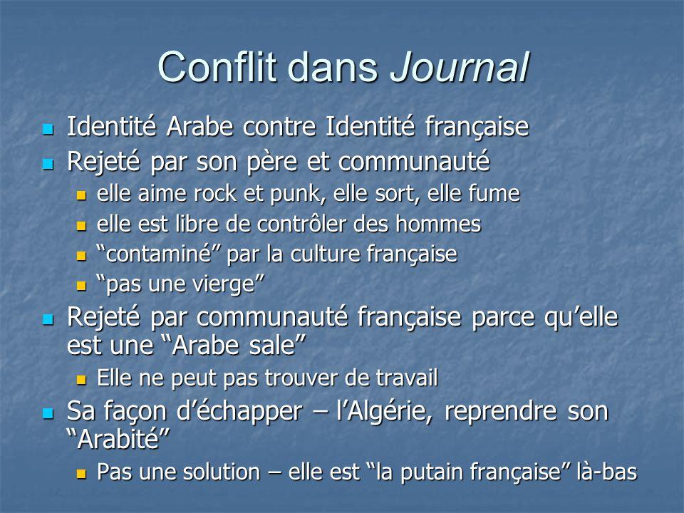 Conflit dans Journal Identité Arabe contre Identité française