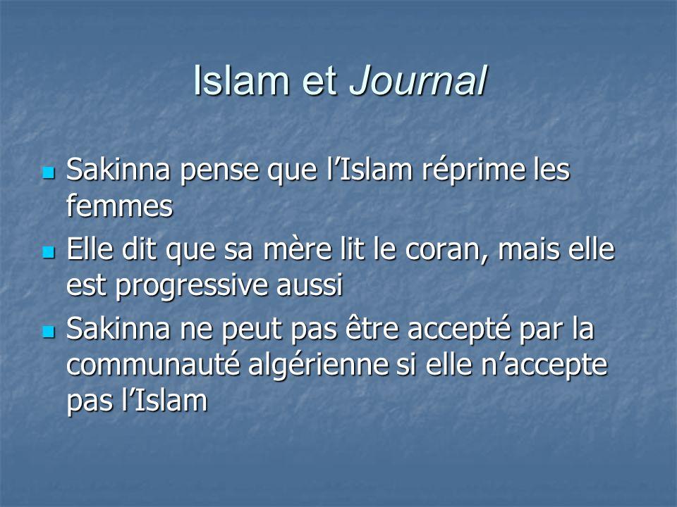 Islam et Journal Sakinna pense que l'Islam réprime les femmes