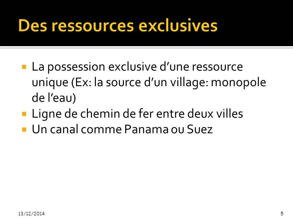 Des ressources exclusives