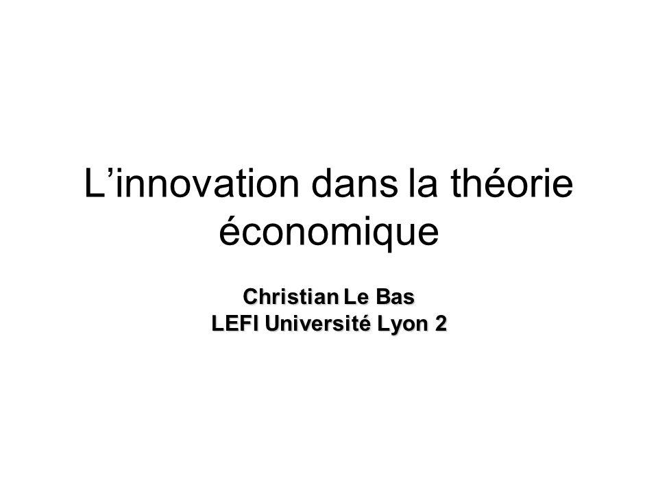 L'innovation dans la théorie économique