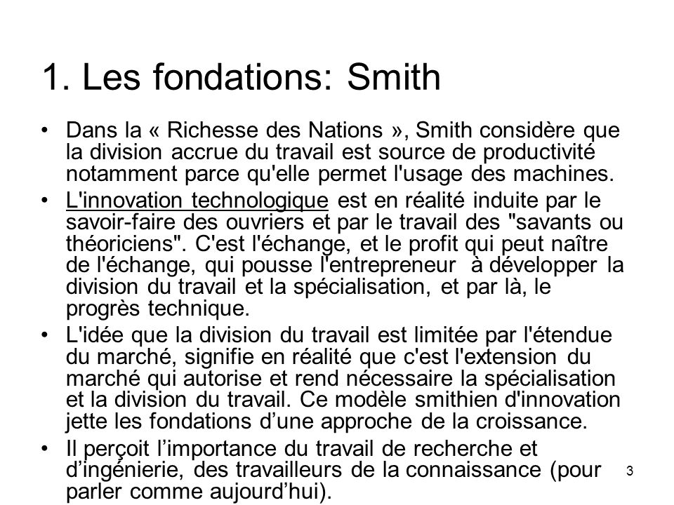 1. Les fondations: Smith