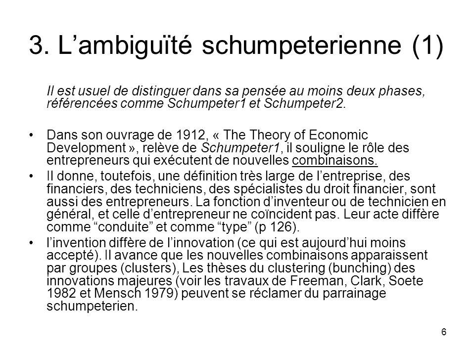 3. L'ambiguïté schumpeterienne (1)