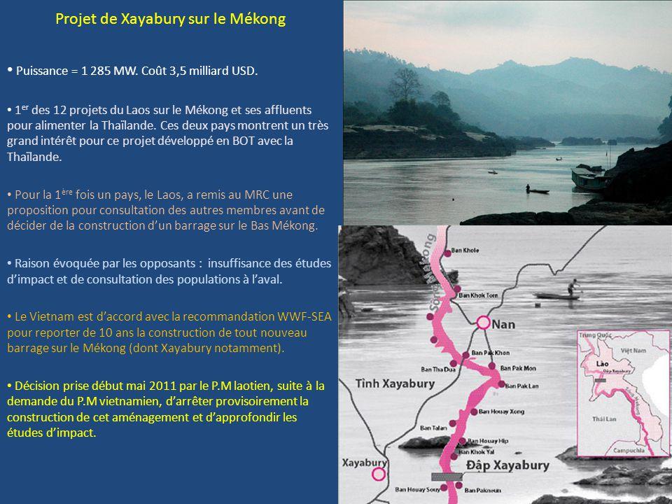 Projet de Xayabury sur le Mékong