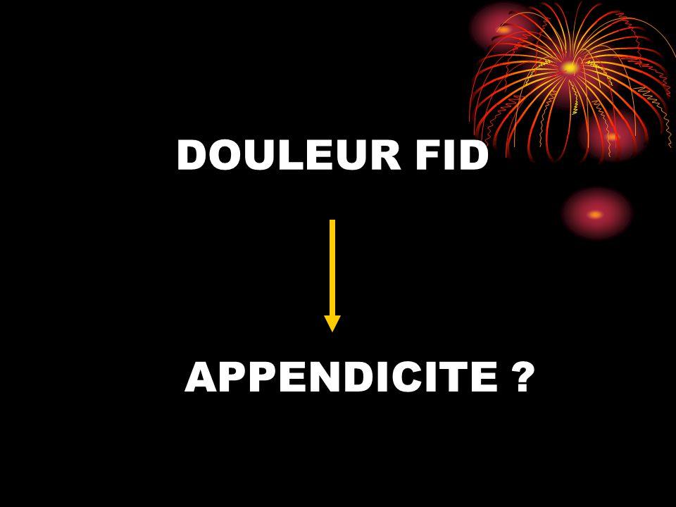 DOULEUR FID APPENDICITE