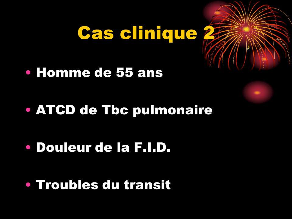 Cas clinique 2 Homme de 55 ans ATCD de Tbc pulmonaire