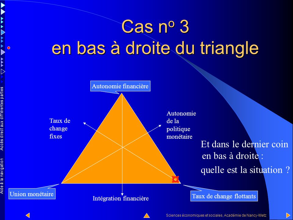 Cas no 3 en bas à droite du triangle
