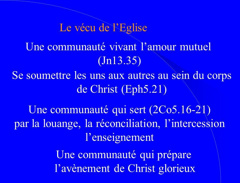 Une communauté vivant l'amour mutuel (Jn13.35)
