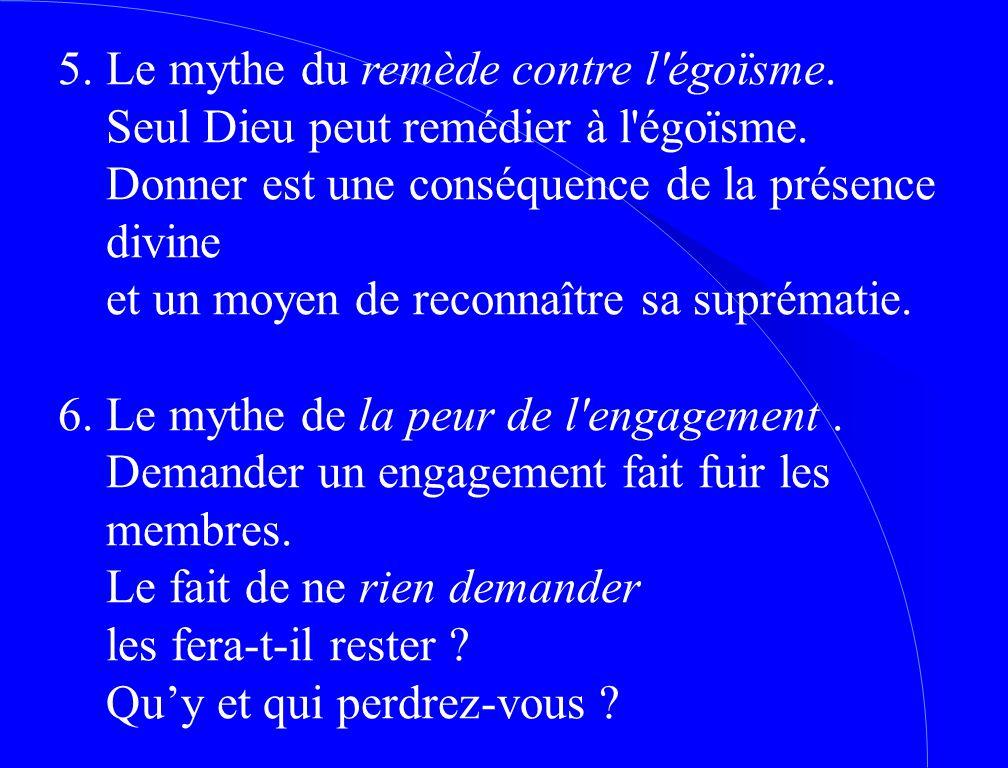 5. Le mythe du remède contre l égoïsme.