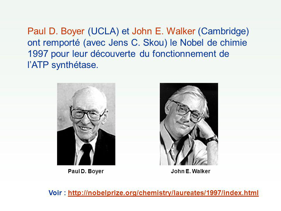 Paul D. Boyer (UCLA) et John E