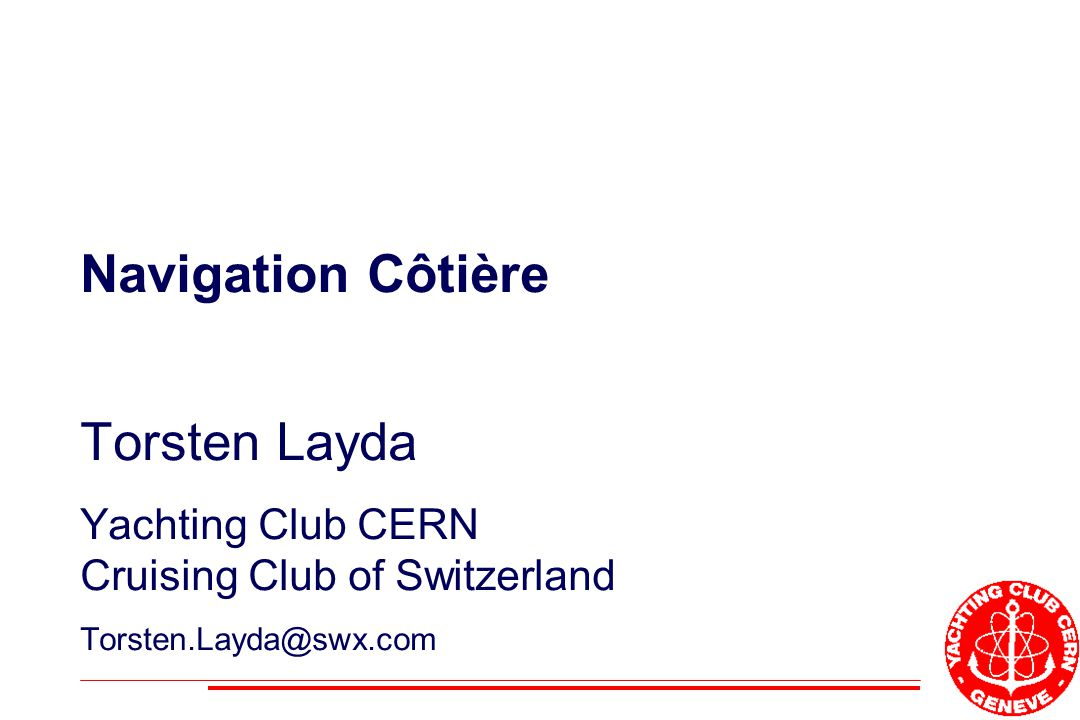 Navigation Côtière Torsten Layda