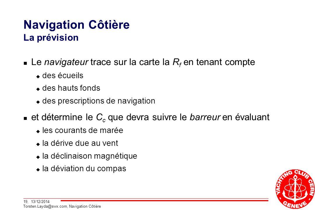 Navigation Côtière La prévision