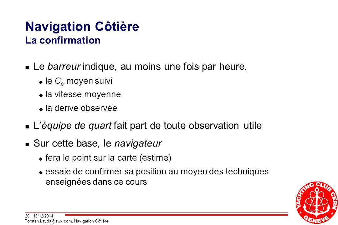 Navigation Côtière La confirmation