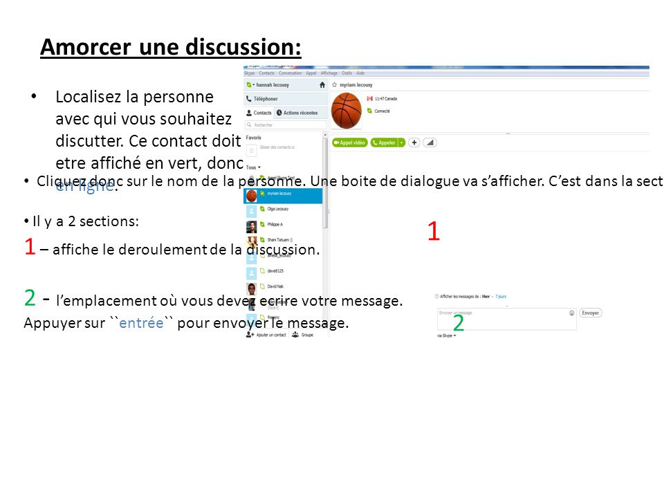 Amorcer une discussion: