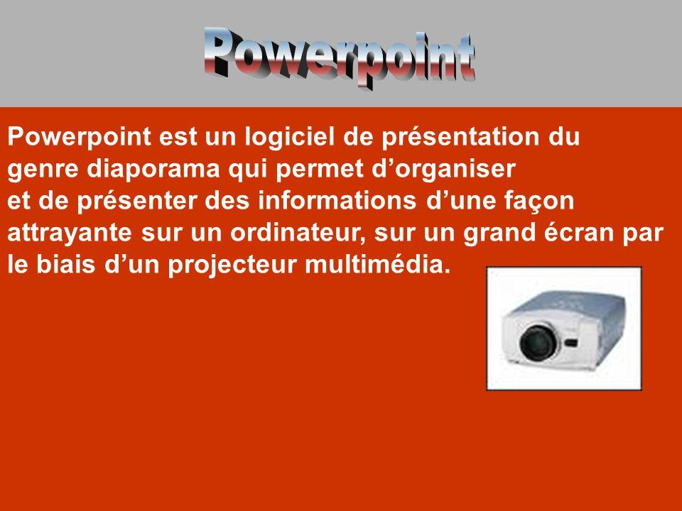 Powerpoint Powerpoint est un logiciel de présentation du
