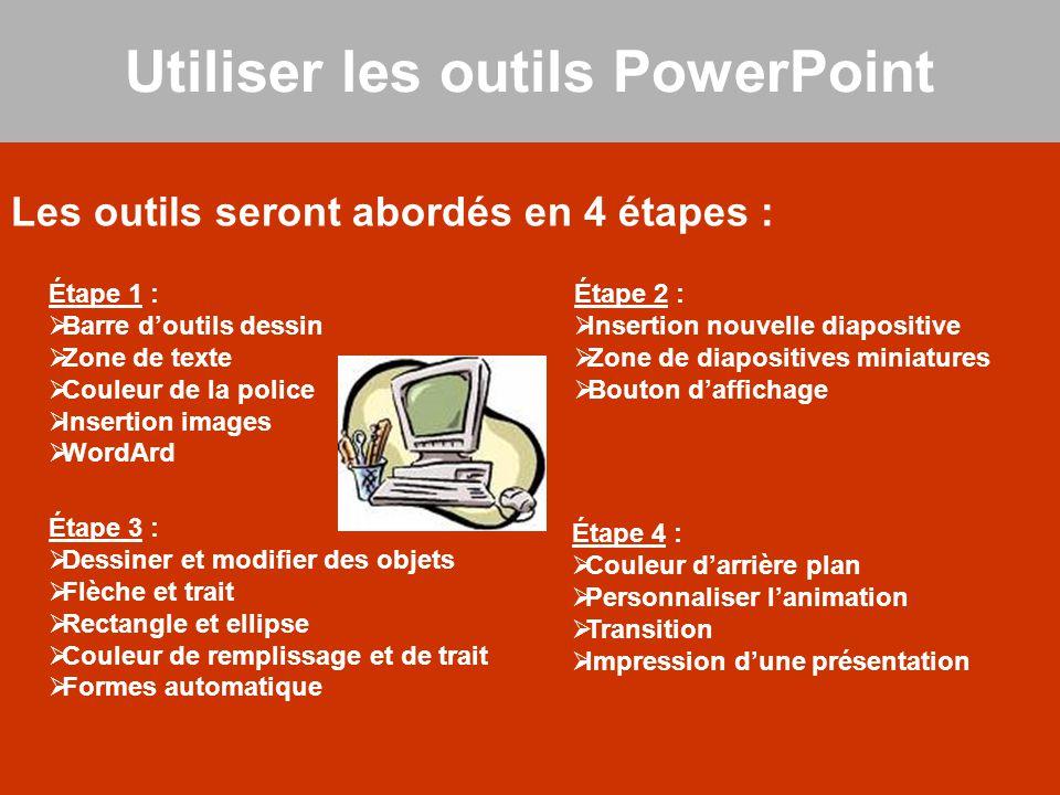 Utiliser les outils PowerPoint
