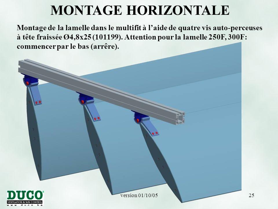 MONTAGE HORIZONTALE