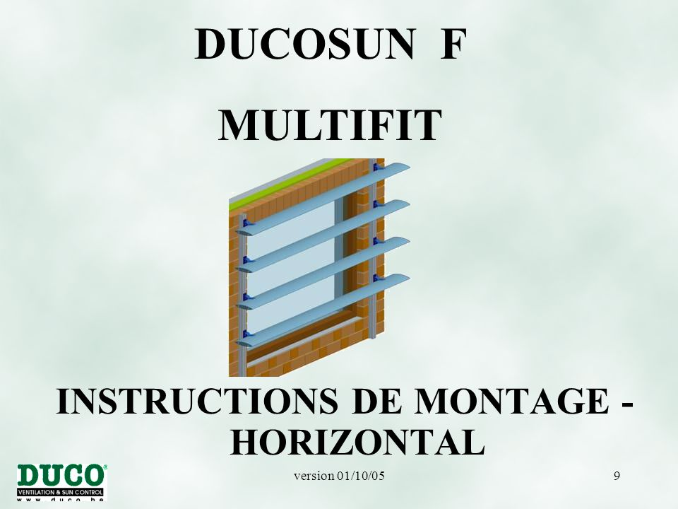 INSTRUCTIONS DE MONTAGE - HORIZONTAL