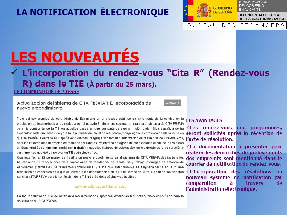 LA NOTIFICATION ÉLECTRONIQUE