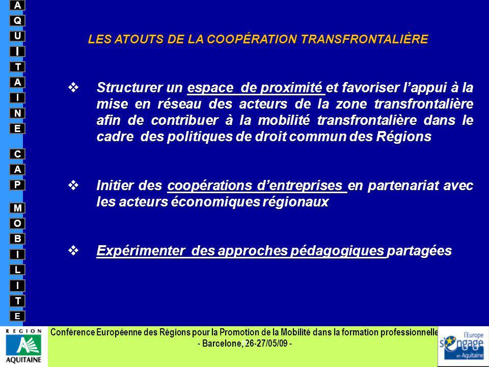 LES ATOUTS DE LA COOPÉRATION TRANSFRONTALIÈRE