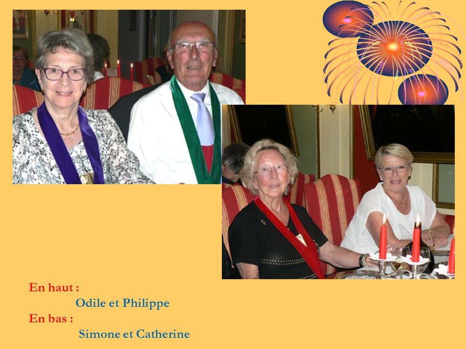 En haut : Odile et Philippe En bas : Simone et Catherine