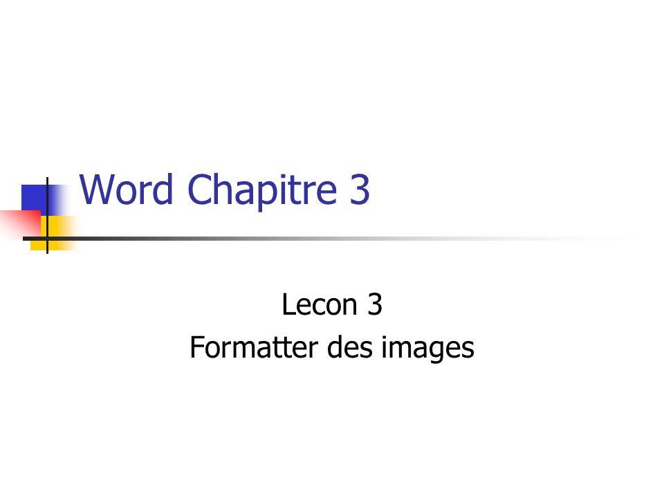 Lecon 3 Formatter des images