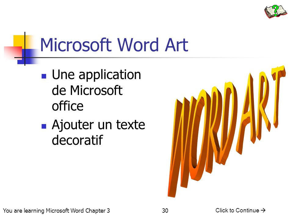 Microsoft Word Art WORD ART Une application de Microsoft office