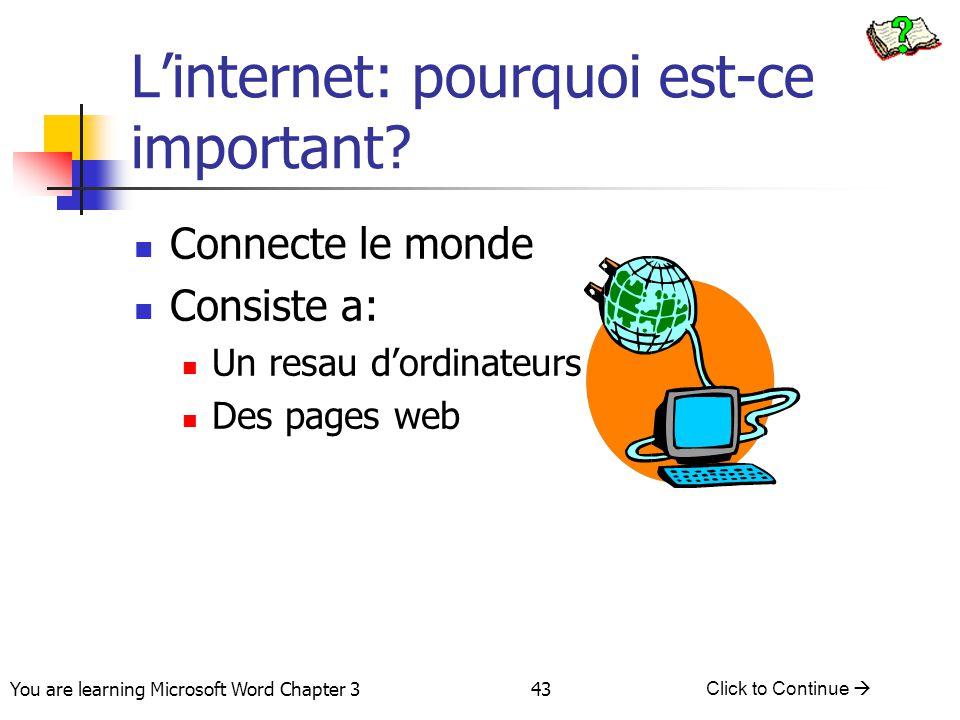 L'internet: pourquoi est-ce important