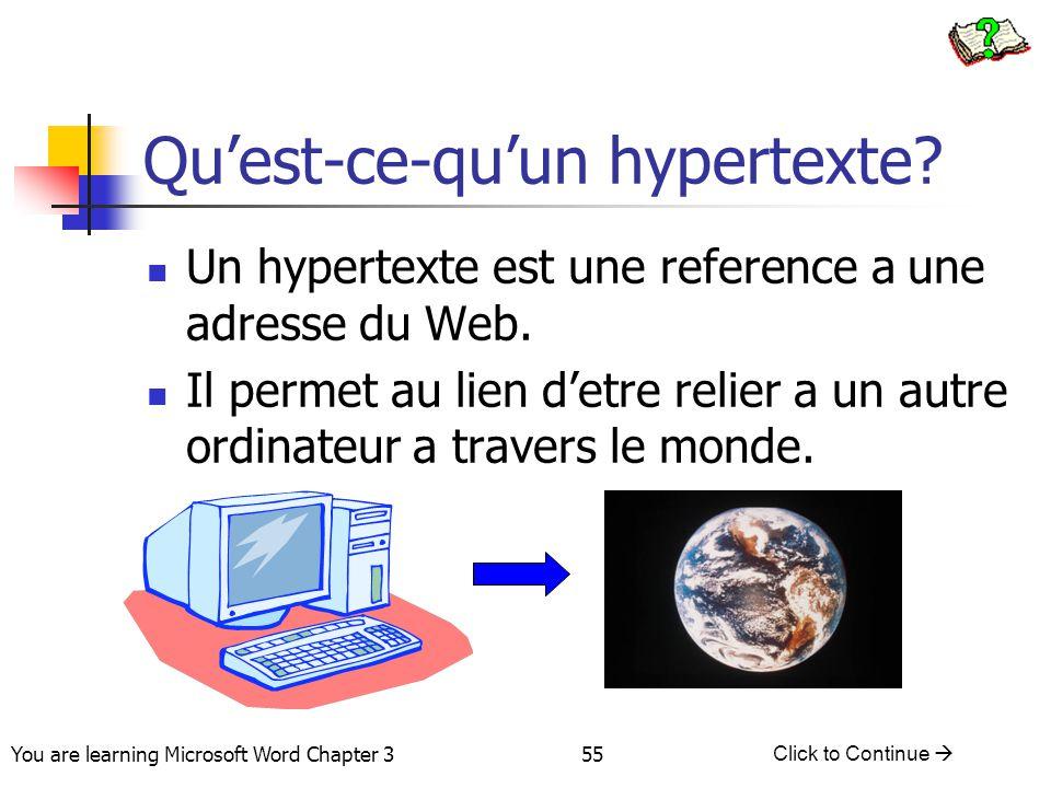 Qu'est-ce-qu'un hypertexte