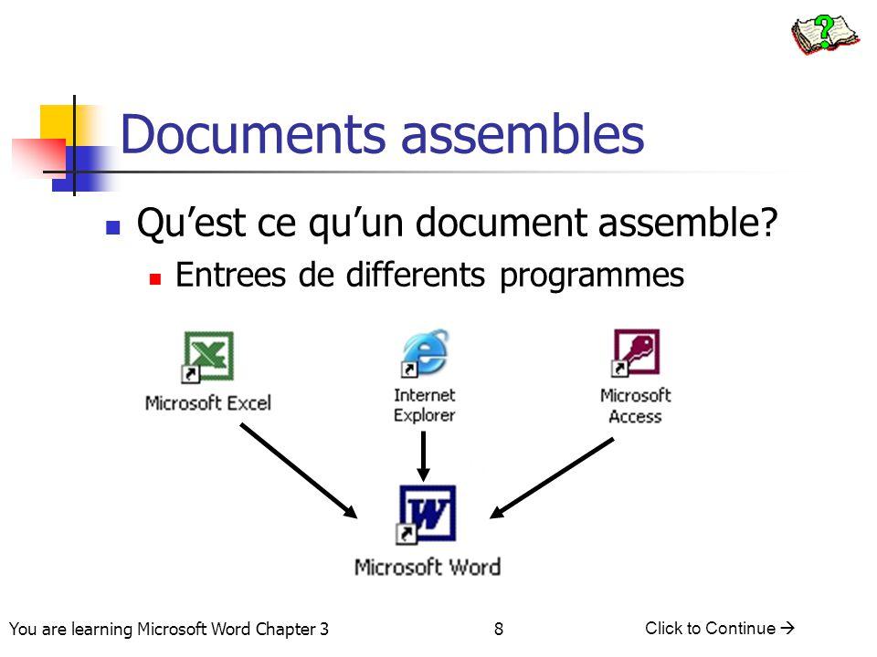 Documents assembles Qu'est ce qu'un document assemble