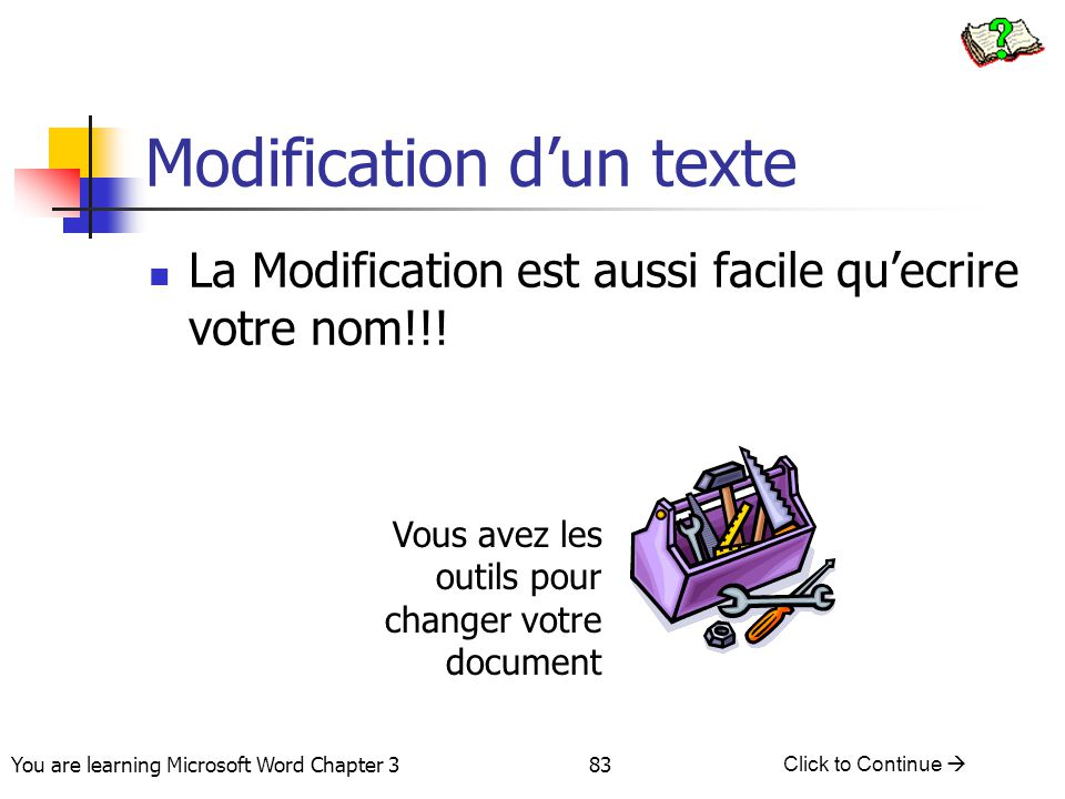Modification d'un texte