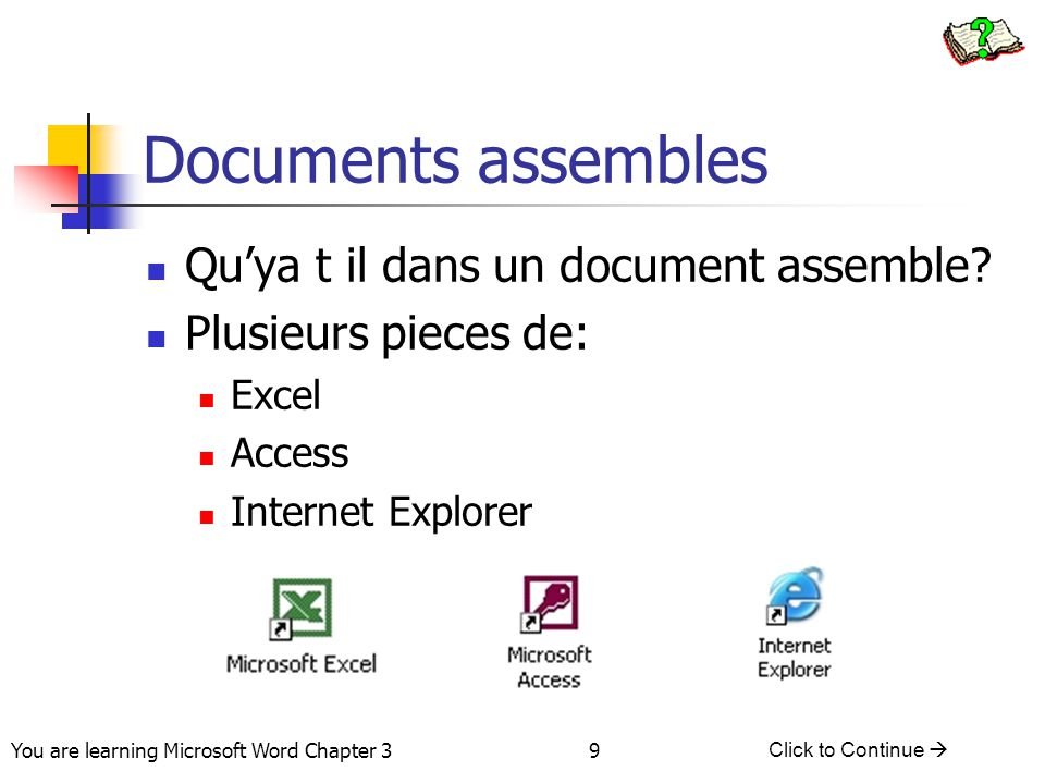 Documents assembles Qu'ya t il dans un document assemble