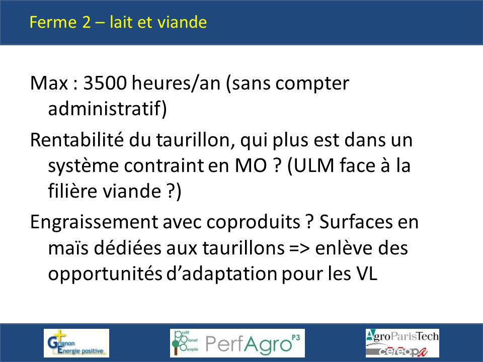 Max : 3500 heures/an (sans compter administratif)