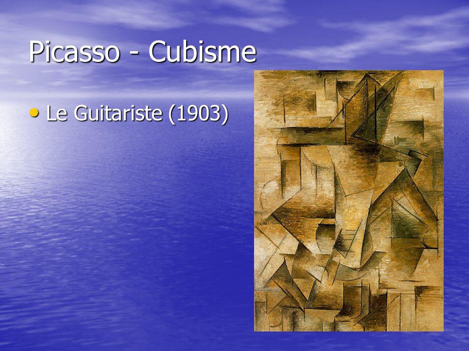 Picasso - Cubisme Le Guitariste (1903)