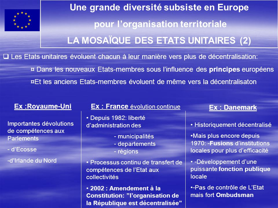 Une grande diversité subsiste en Europe