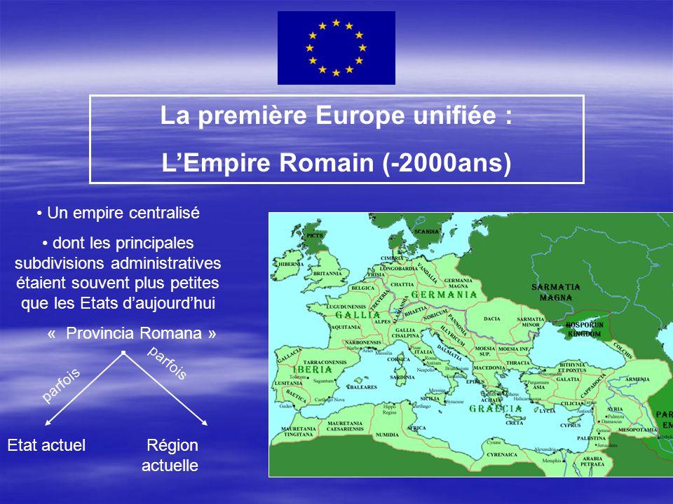 La première Europe unifiée : L'Empire Romain (-2000ans)