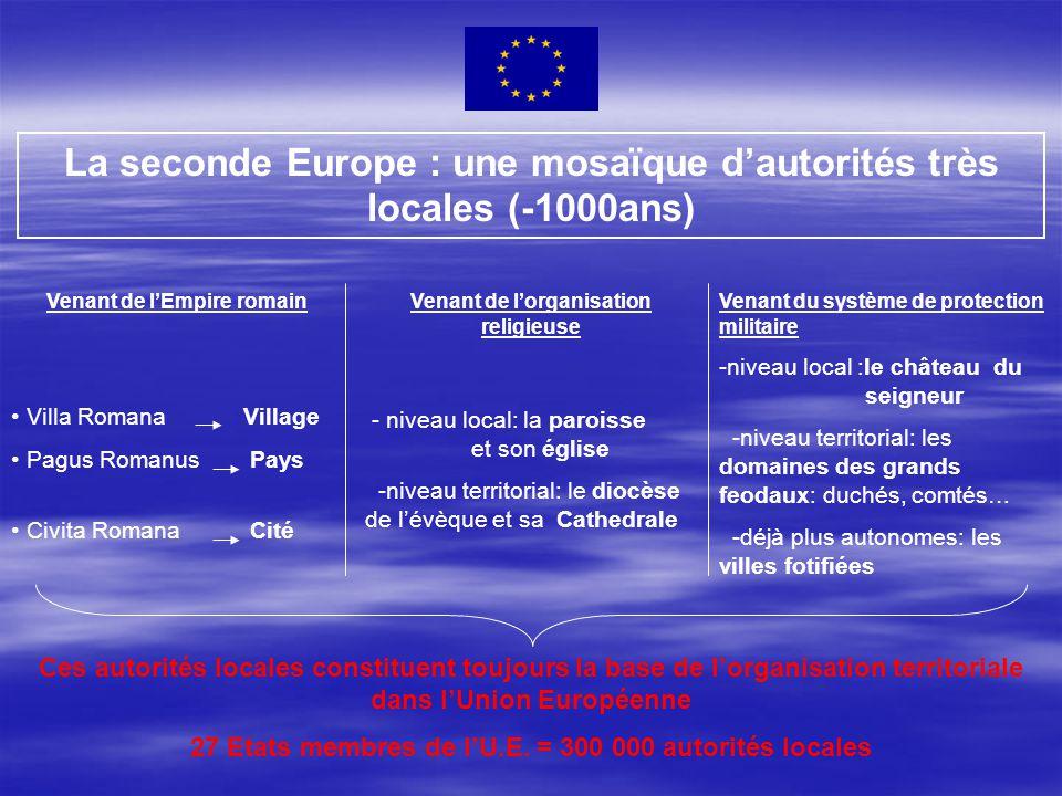 La seconde Europe : une mosaïque d'autorités très locales (-1000ans)
