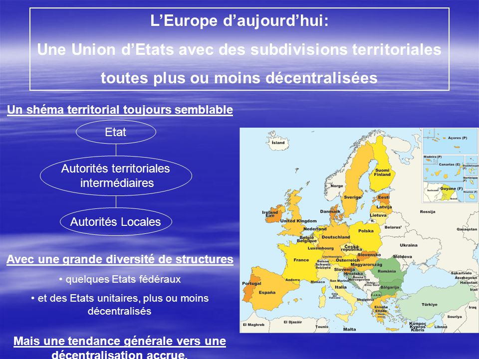L'Europe d'aujourd'hui: