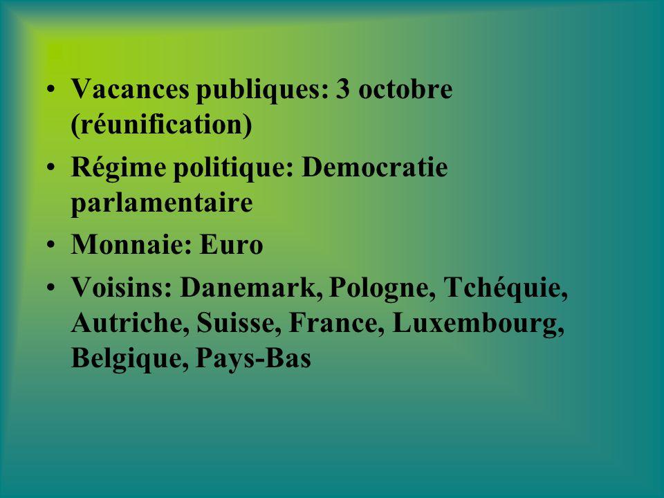 Vacances publiques: 3 octobre (réunification)