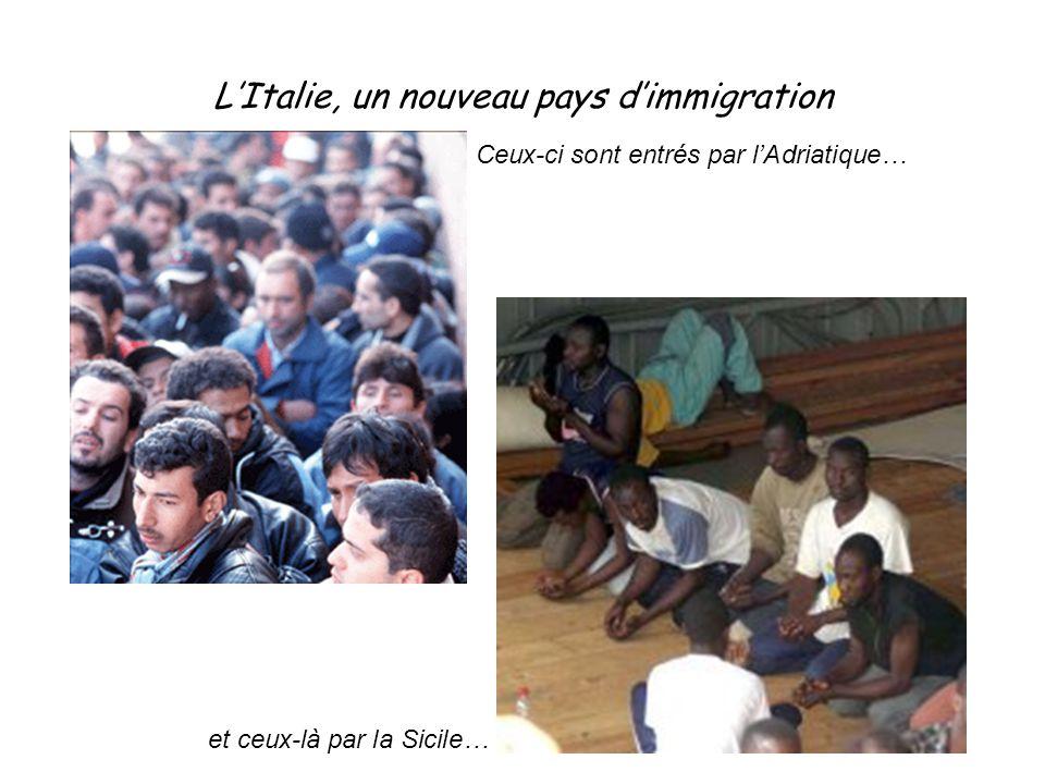 L'Italie, un nouveau pays d'immigration