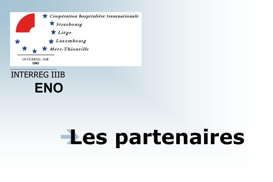 INTERREG IIIB ENO Les partenaires